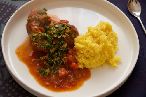 cuisine,recette,gastronomie,pâtes,tomates,oranges,osso-buco,osso bucco