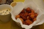 Huîtres frites et mayonnaise aux algues