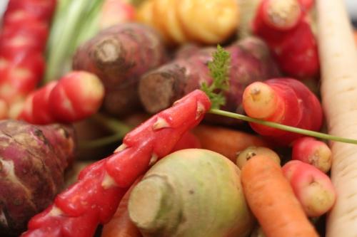 Des légumes par la racine