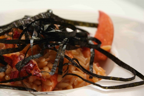 «Pastasotto» au homard breton et algue nori