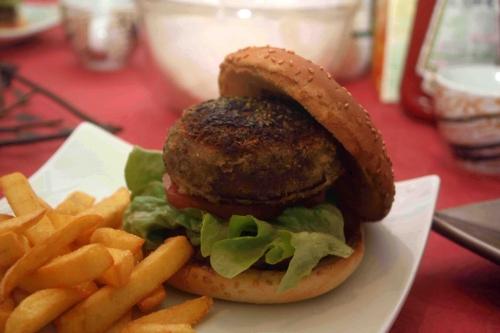 Hamburger au portobello farci