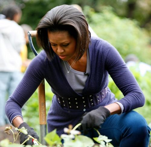 Food Network dans le jardin de Michelle Obama