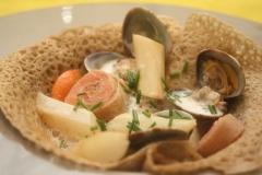 Bol marin de crêpes de sarrasin
