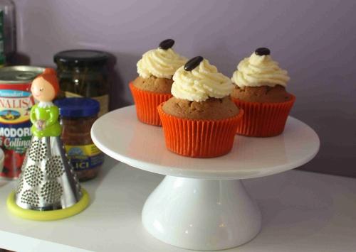 Cupcakes au café, crème à la cardamome