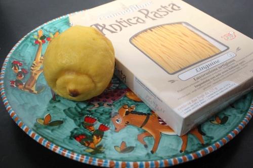 Linguine al limone della Costa d'Amalfi e limonata