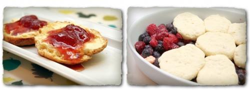 Lait ribot ou buttermilk, cobbler et scones