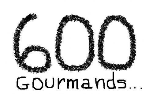 Bonne année les 600 gourmands!