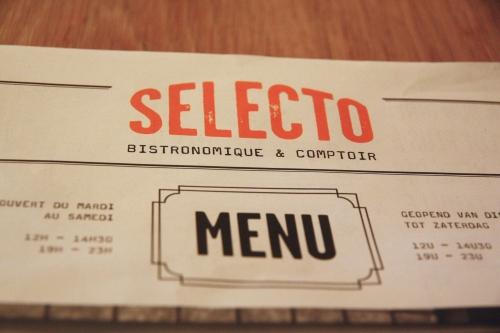 SELECTO – Bistronomie effacée