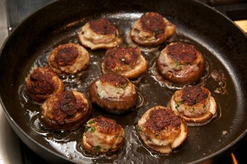 recette champignons,lentins,shiitakés,recette shiitaké,lentins farcis