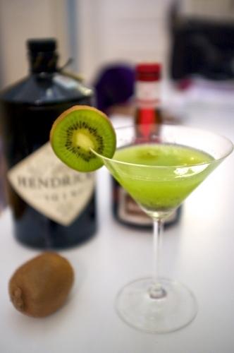 Cocktail, Gin, Kiwi, Grand Marnier