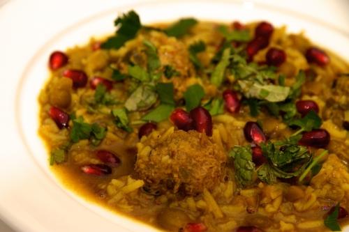 Recette iranienne, Soupe à la grenade, Ash-e Anar, Soupe iranienne, boulettes d'agneau