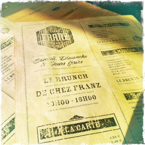 Chez Franz: Brunch sans façon