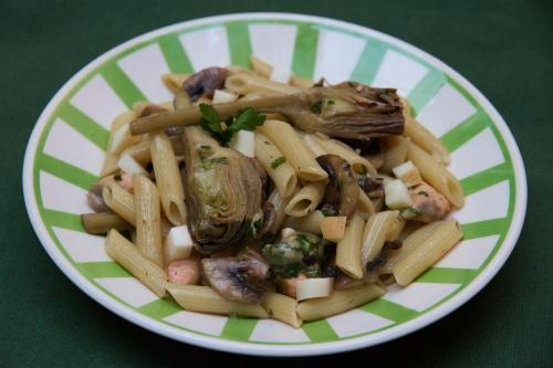 Penne aux artichauts et champignons de Paris 22.jpg