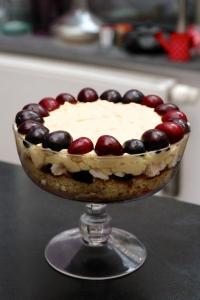 Trifle cerise, recette kriek, dessert kriek, Oude Kriek Beersel