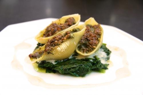recette escargots,conchiglioni escargots,pesto de sauge