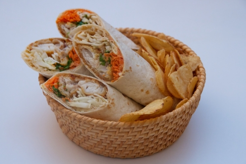 wrap,recette fish sticks,picard,tortilla poisson,poisson pané