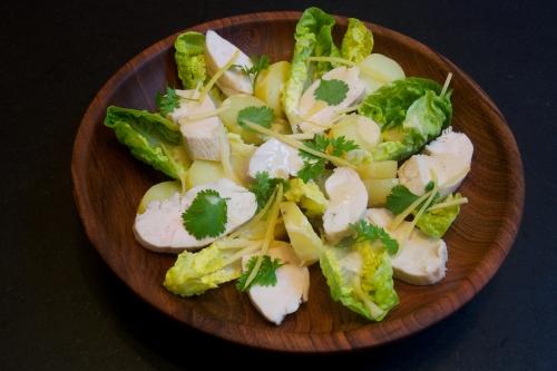 Salade tiède de volaille thaï-«landaise»