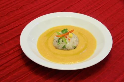 Gaspacho de mangue & tartare de langoustines