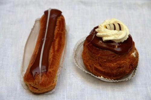 Eclairs, choux à la crème, pâtisseries Bruxelles, Nihoul, Collignon, Marcolini, Vatel, Van Dender, De Baere, Nicolas Arnaud