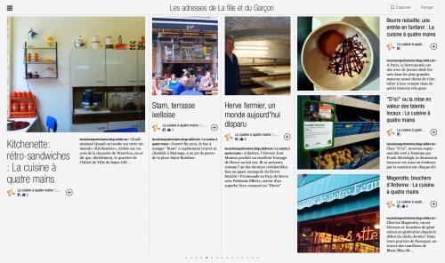 Flipboard, magazine culinaire, bonnes adresses