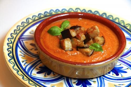 Soupe d'aubergines grillées façon Ottolenghi