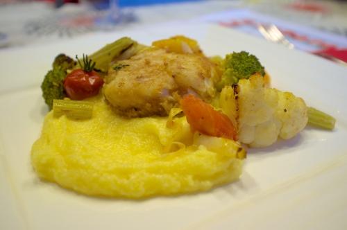 baccala,morue,légumes d'hiver,cabillaud,polenta