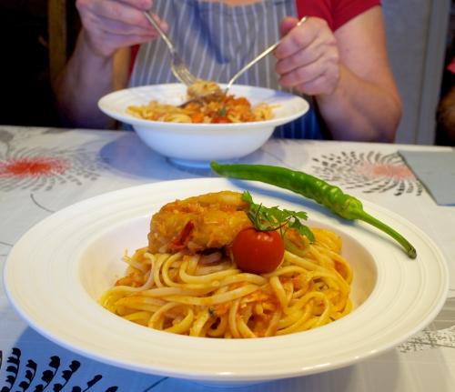 Spaghetti al baccalà
