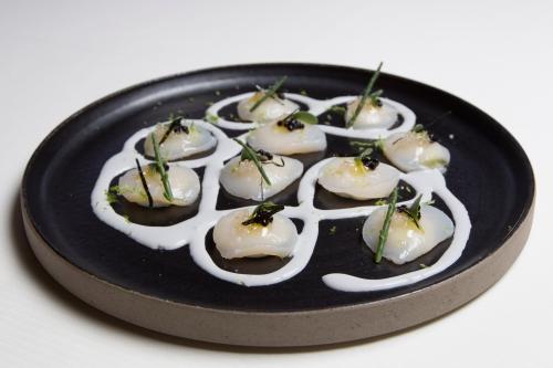 gaspacho d'huîtres,christophe hardiquest,restaurant bon bon,carpaccio de st jacques,recette de chef,recette noël