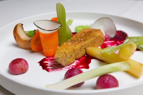 Foie gras en tuile d'argile de Christophe Hardiquest