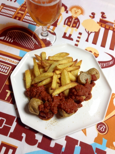 currywurst, cuisine berlinoise, recette currywurst
