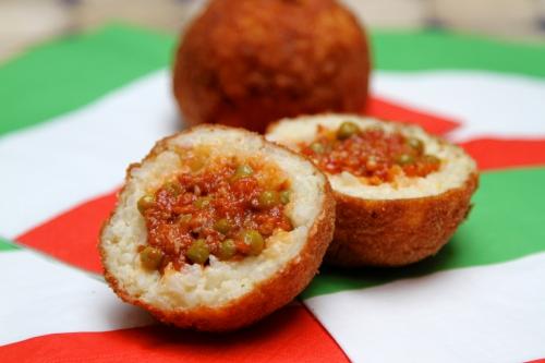 Arancini, boules de riz à la sicilienne