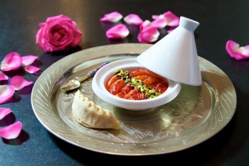 Salade d'orange sanguine, parfums d'orange et de rose