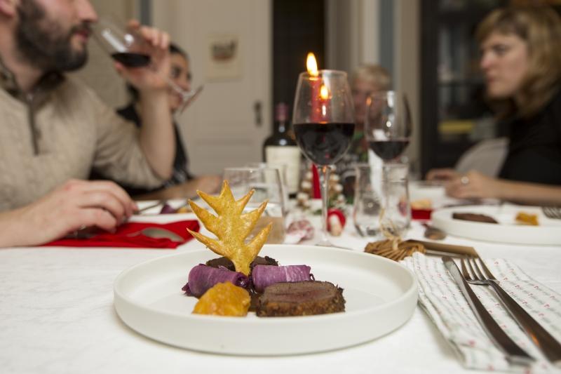 Recette de chef, plat de Noël, plat gibier, Maxime Collard, La table de Maxime